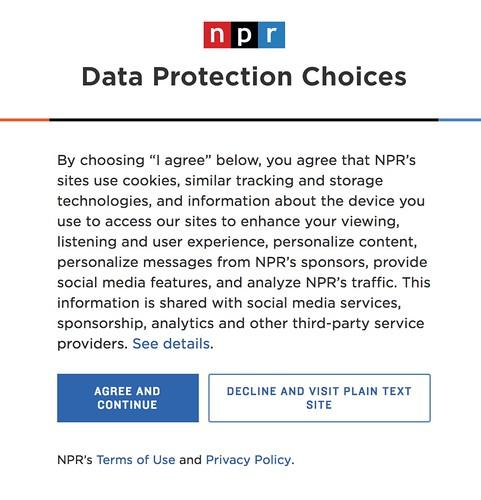 NPR GDPR Choices
