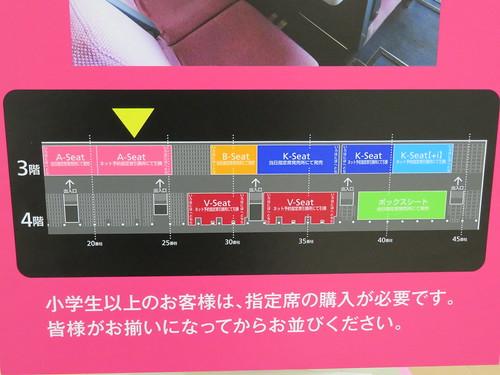 中山競馬場の3階・4階でネット予約と当日発売の指定席の割合