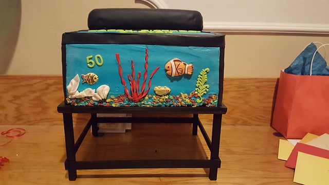 Aquarium Theme Cake from Cakes by Maddy