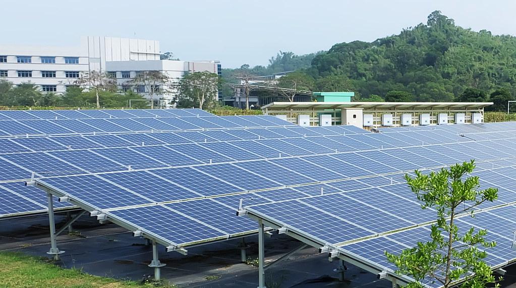 工研院六甲院區地面型光電。此處申請再生能源憑證,並從2017年起開始綠電交易。攝影:陳文姿