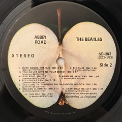 THE BEATLES:ABBEY ROAD(LABEL SIDE-B)