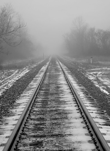 Foggy day on the tracks. | by jimbobphoto