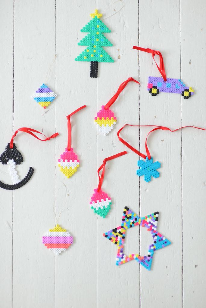 Christmas Hama Bead Designs.Diy With Kids Hama Beads Christmas Ornaments Jutta Flickr