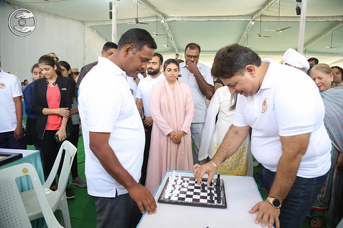 Blessings by Satguru Mata Ji at pavilion of Chess