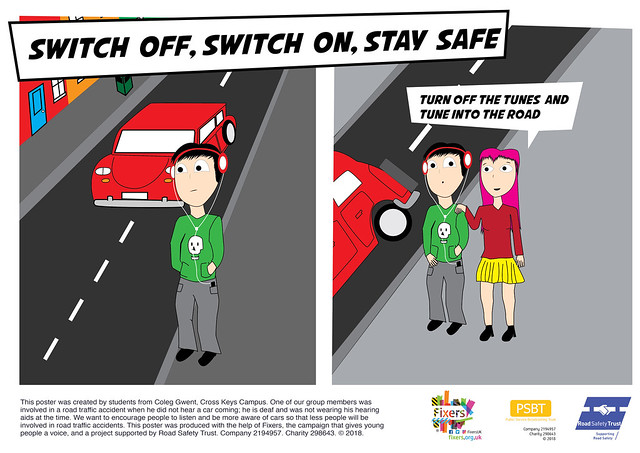 Road Safety Poster - Switch Off, Switch on, Stay Safe