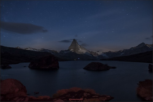 Cervin - Stellisee by night