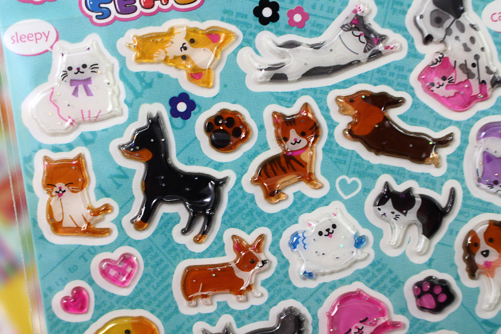 Adorable Cat and Dog Stickers