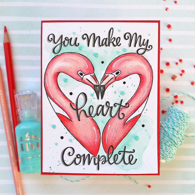 Valentine's Day Watercolor Card 4