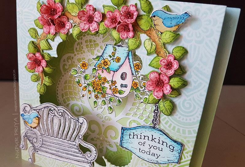 Cherry Blossom Box Card 3_Nupur Creatives