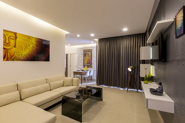 A Chic, No-Frill Show Home in Bangalore That Lets the Layout Shine Through