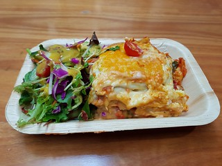 Vegan Lasagna and Dill Mustard Salad from Vegerama in Myer Centre