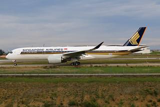 F-WZGP Airbus A350 Singapore