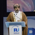 Dr. Ahmed Mohammed Al Futaisi during Plenary session 1 at IRU World Congress