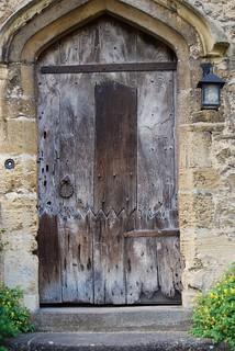 Patch work door.