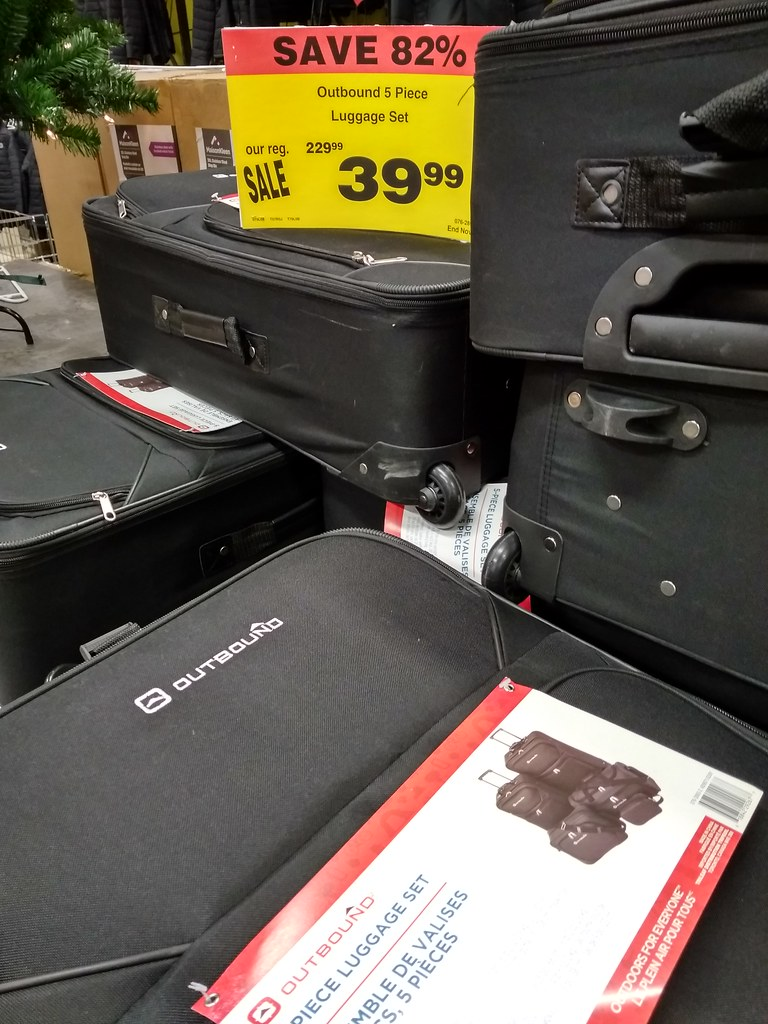Outbound 5 Piece Luggage Set $39.99