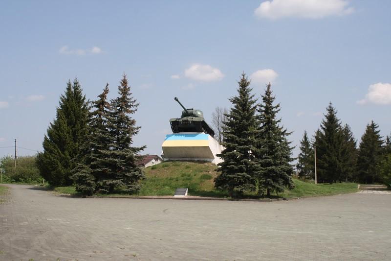 Украина. Дубно в мае 2018. Мемориал самому крупному таноковому сражению в истории