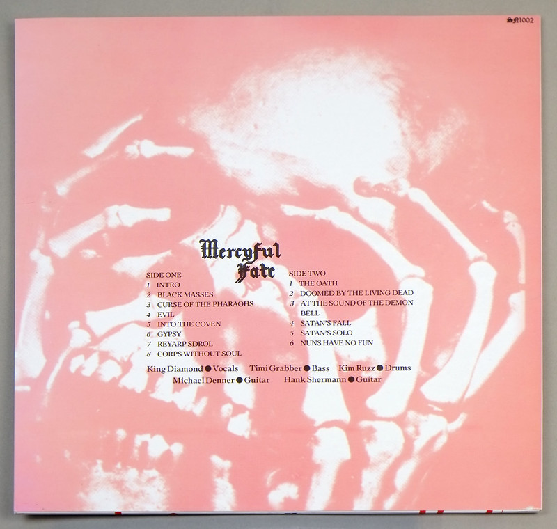 "MERCYFUL FATE FROM THE DEPTHS OF HELL RED VINYL 12"" LP ALBUM VINYL"