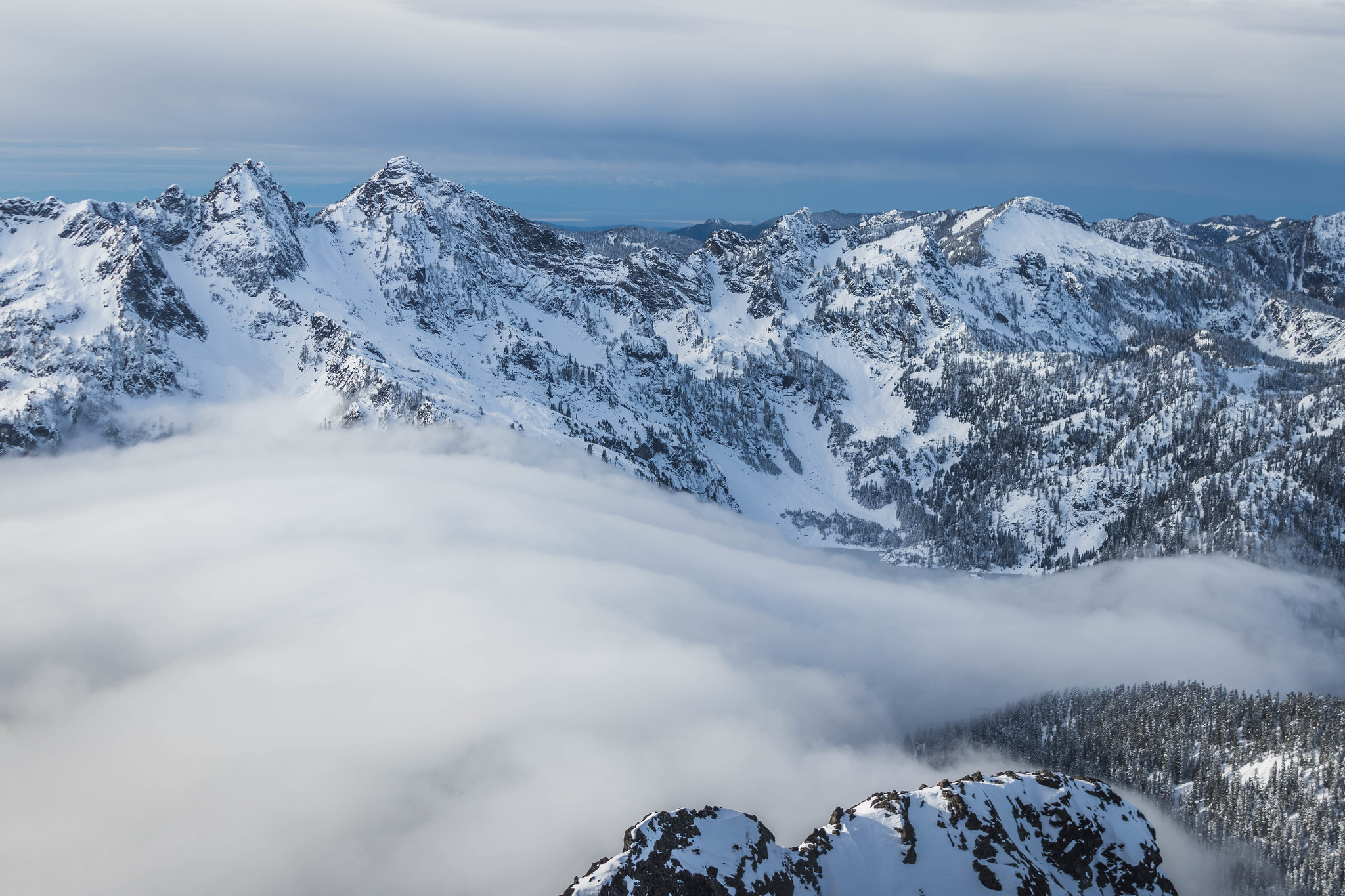 Inversion over Snow Lake Basin