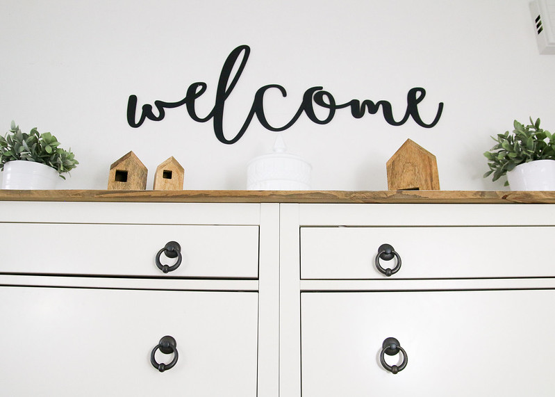 Wood Painted Welcome Sign