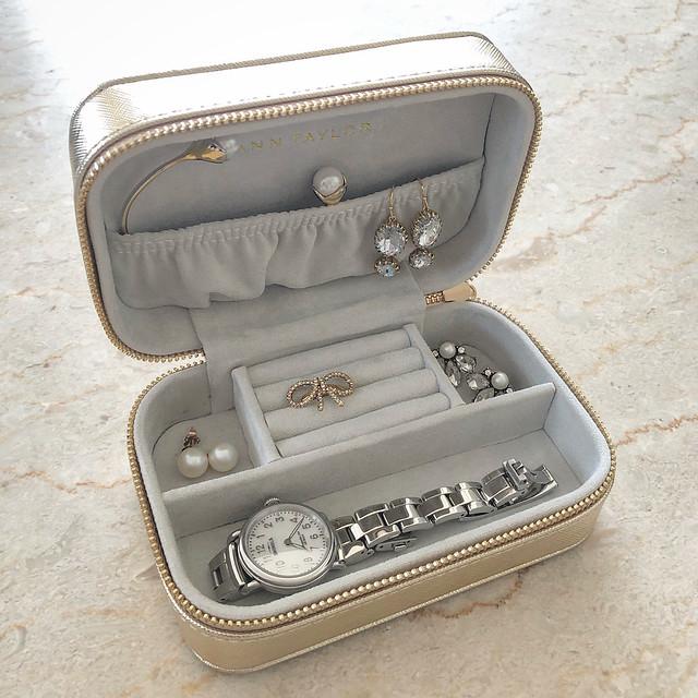 c/o Ann Taylor Metallic Jewelry Box