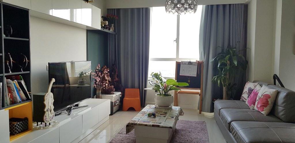 phòng khách căn hộ 03 phòng ngủ sunrise city, nhà full nội thất quá đẹp..
