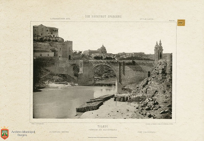 """De la obra """"Die Baukunst Spaniens in ihren hervorragendsten werken"""", de Max Junghaendel. Archivo Municipal, Ayuntamiento de Burgos."""