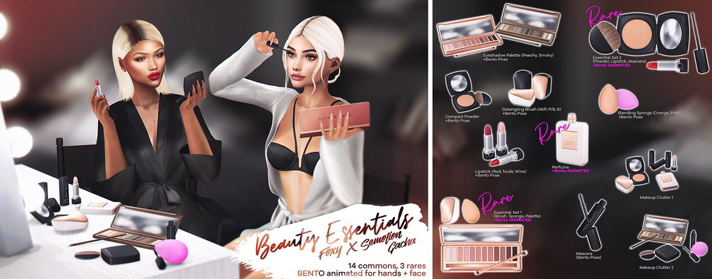 Foxy x SEmotion - Beauty Essentials Gacha - TeleportHub.com Live!