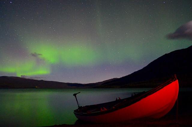 Fishing under Aurora