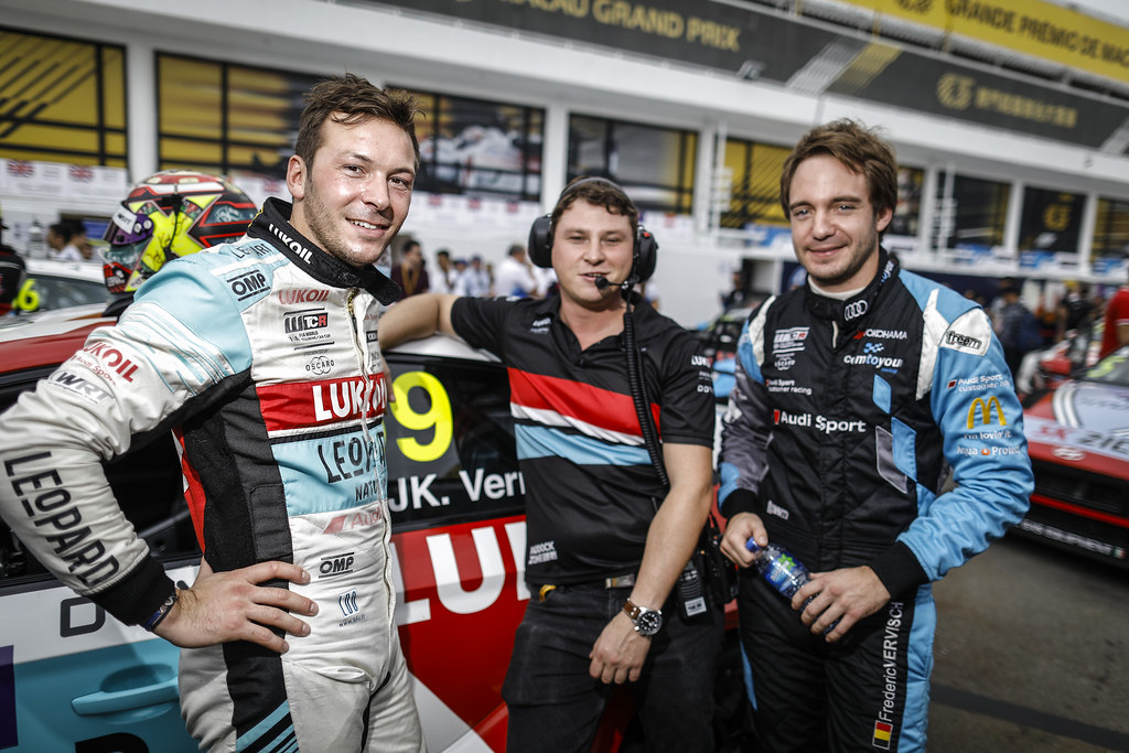 VERNAY Jean-Karl, (fra), Audi RS3 LMS TCR team Audi Sport Leopard Lukoil, portrait VERVISCH Frederic, (bel), Audi RS3 LMS TCR team Comtoyou Racing, portrait during the 2018 FIA WTCR World Touring Car cup of Macau, Circuito da Guia, from november  15 to 18 - Photo Francois Flamand / DPPI