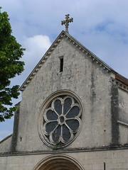 20080519 25910 Jakobus Ortschaft Kirche Fassade Rosette Kreuz - Photo of Marmeaux