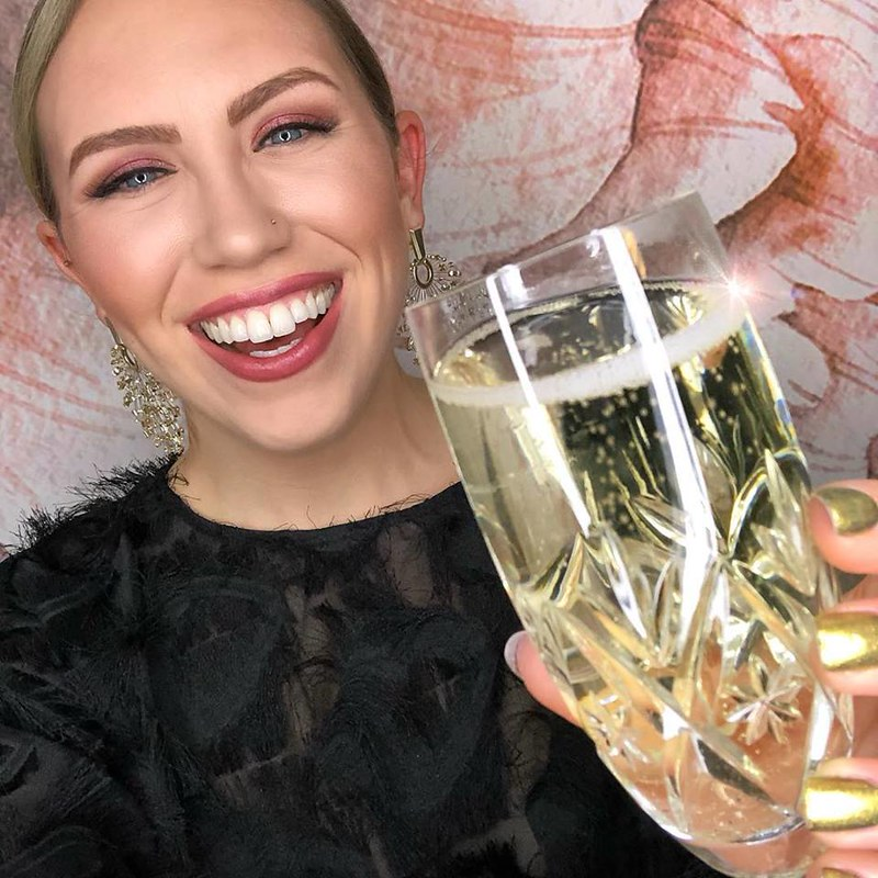 Champagne Toast Monochromatic Pink Makeup