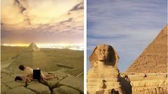 Escándalo: Captan a pareja teniendo intimidad sobre una pirámide en Egipto (FOTO)