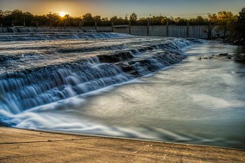 hdr lakewood nikon nikond5300 whiterockcreek whiterocklake whiterocklakewaterfall creek dam geotagged longexposure morning river sky spillway stream sunrise water waterfall