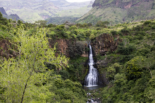 A panoramic view of waterfalls in Jebel Marra, Central Darfur | by UNAMID Photo