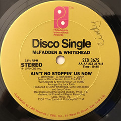 MCFADDEN & WHITEHEAD:AIN'T NO STOPPIN' US NOW(LABEL SIDE-A)