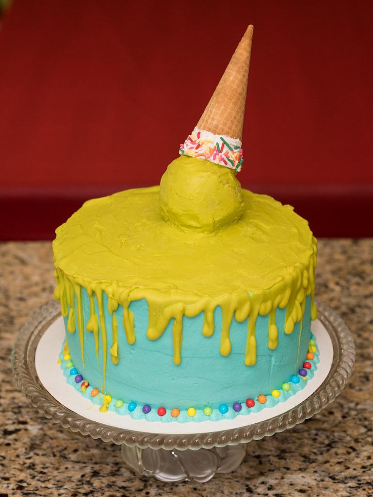 Ice cream slime cake