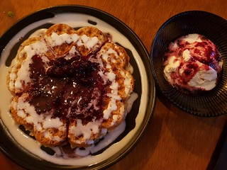 Berry Waffles at You Came Again