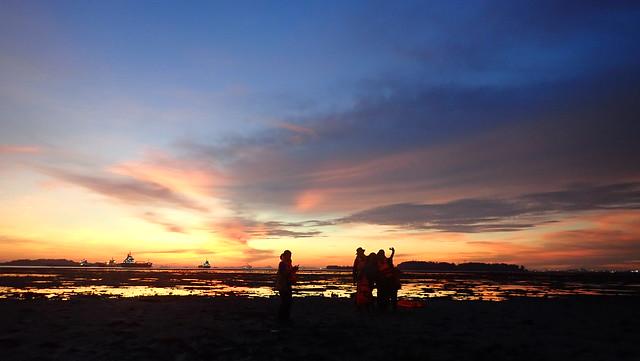 Sunset at Beting Bemban Besar