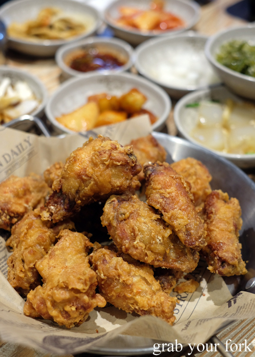 Fried chicken wings at Myeong Dong Korean Restaurant in North Strathfield