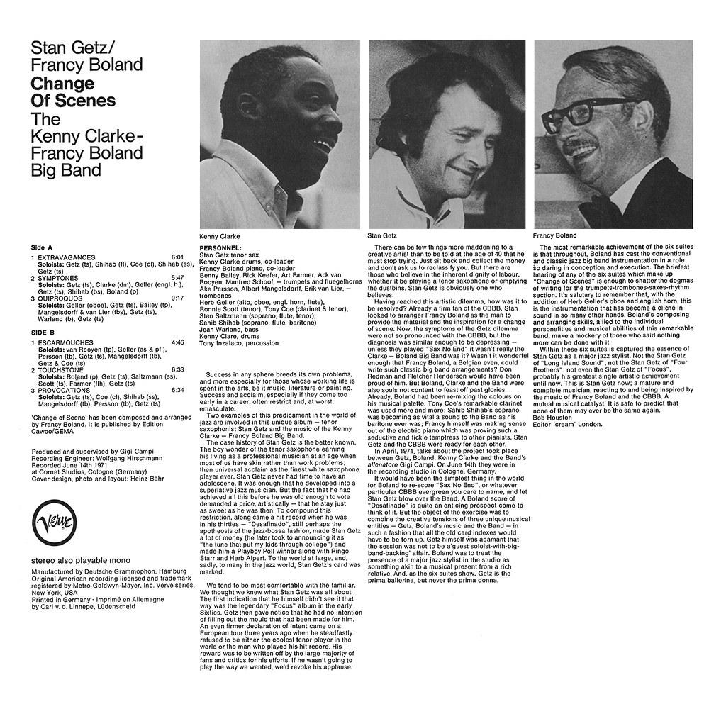 Stan Getz, Francy Boland, Kenny Clarke - Change of Scenes