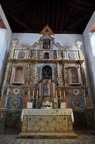 Tuineje (Fuerteventura-Canarias-España). Iglesia de San Miguel Arcángel. Retablo