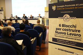 """Lucca """"6 Blocchi per costruire Nuovo Lavoro"""" 2017"""