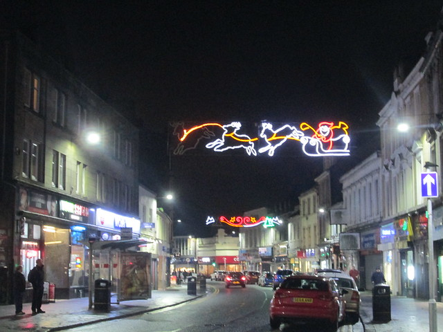 Christmas lights, Dumbarton Hight Street