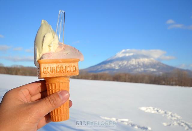 hokkaido itinerary niseko milk kobo ice cream