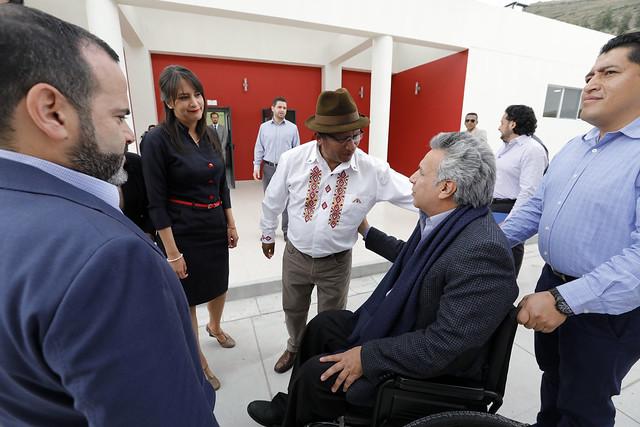 PRESIDENTE LENÍN MORENO INAUGURÓ LA NUEVA UNIDAD EDUCATIVA GUACHALÁ-MITAD DEL MUNDO EN EL CANTÓN CAYAMBE-PICHINCHA, 13 DE NOVIEMBRE DEL 2018.