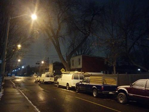 Bartlett Avenue at night #toronto #dovercourtvillage #bartlettavenue #winter #lights #night #latergram