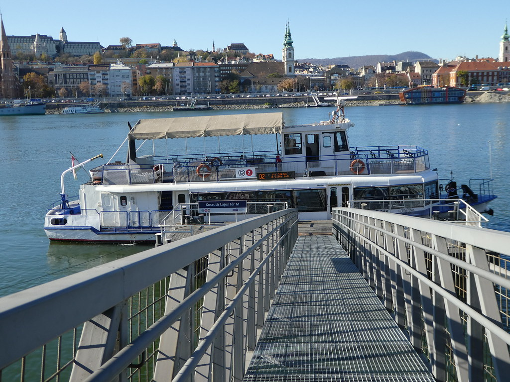 The Public Boat Pier along the Pest embankment, Budapest