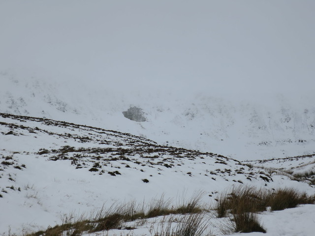 Welsh slab avalanche in the Berwyns.