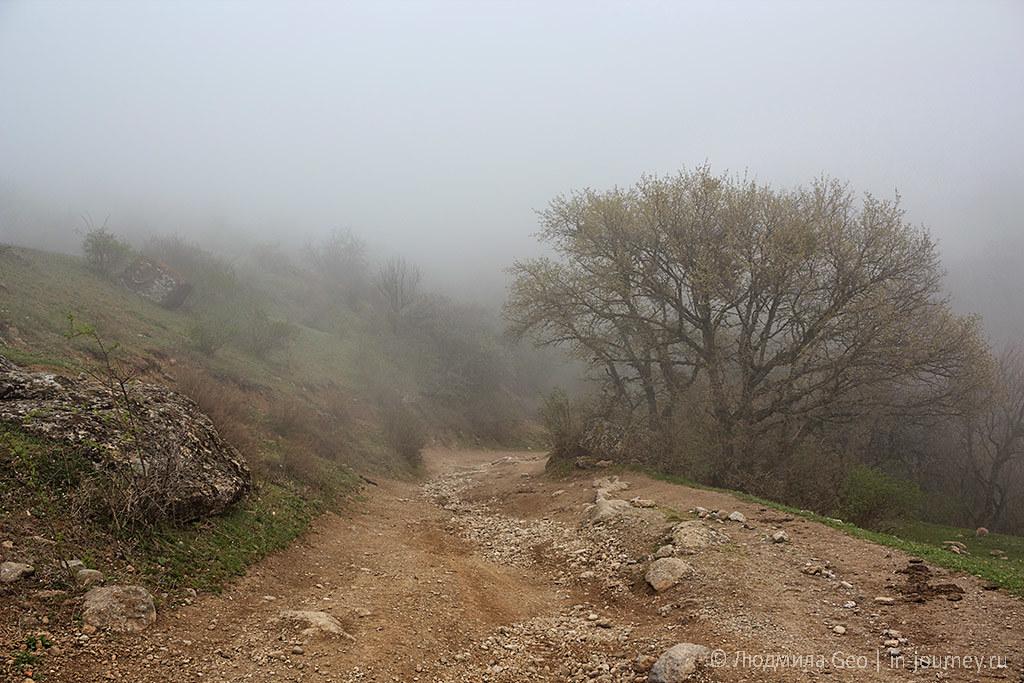 дорога к Долине Привидений в Крыму