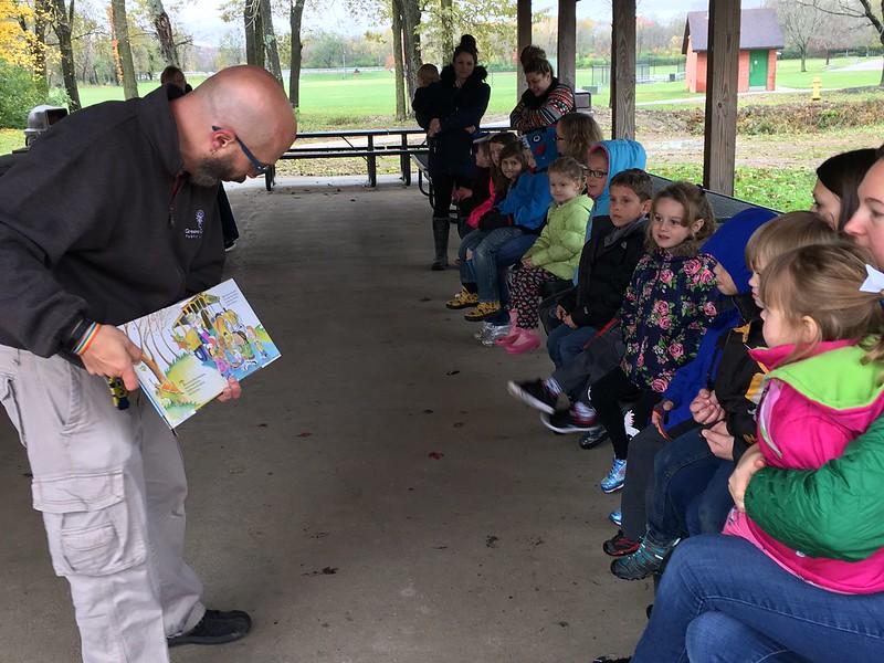 Enjoying Story Time at Rotary Park